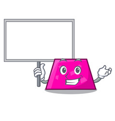 bring board trapezoid character cartoon style vector image