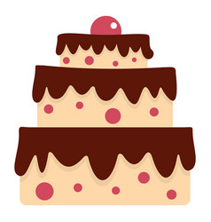 Cake icon isolated vector