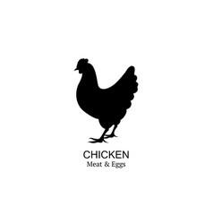 chicken logo icon silhouette bio vector image