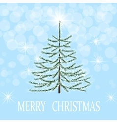 Christmas greeting card Herringbone in frost on a vector