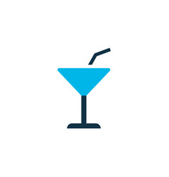 cocktail icon colored symbol premium quality vector image