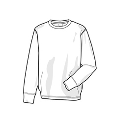 Colorable sweatshirt front vector image