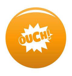 comic boom ouch icon orange vector image