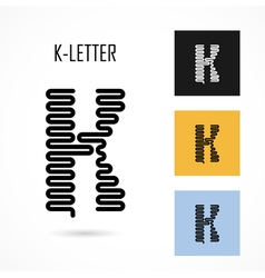 Creative k - letter icon abstract logo design vector