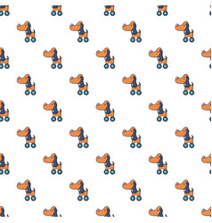 Dog toy on wheels pattern seamless vector