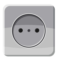 electric outlet icon cartoon style vector image