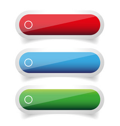 Empty glossy button vector
