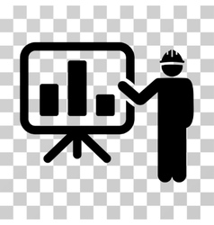 Engineer pointing chart board icon vector