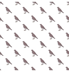 Falcon pattern cartoon style vector