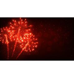Festive red firework background vector
