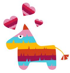 fiesta horse mexican pinata in love vector image