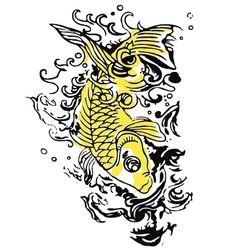 fish tattoo vector image vector image