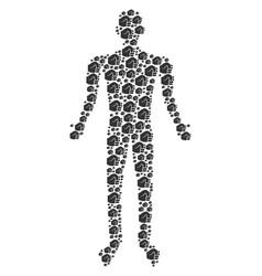 fist person figure vector image