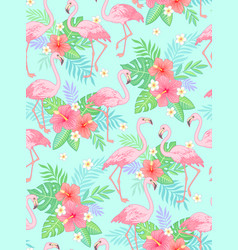 flamingo tropical pattern vector image