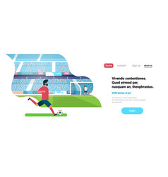 Football match free kick opposing player game vector