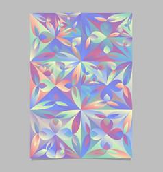 Geometrical abstract triangular flower pattern vector