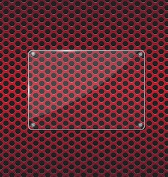 Glass plate on red background vector