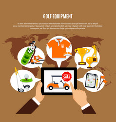 golf equipment buying online composition vector image