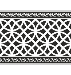gothic floral texture border vector image