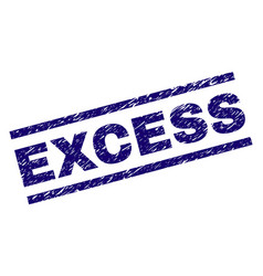 Grunge textured excess stamp seal vector