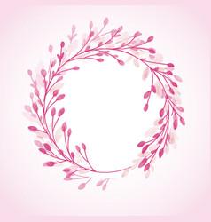 Hand painted floral circular border design vector