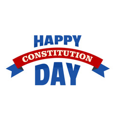 Happy constitution day logo icon flat style vector