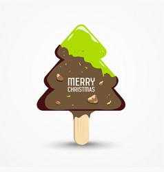 Happy merry christmas ice cream vector