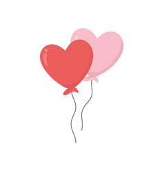 happy valentines day balloons shaped hearts love vector image