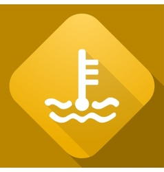 icon of Coolant Level Sign with a long shad vector image