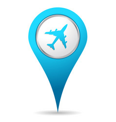location airplane icon vector image