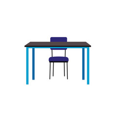 office or school table or desk with chair flat vector image