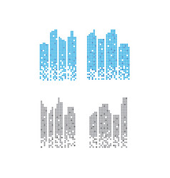 Pixelated skyscraper graphic design template vector