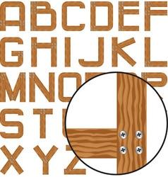 Planks alphabet vector