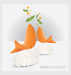 Poster sushi fish vector