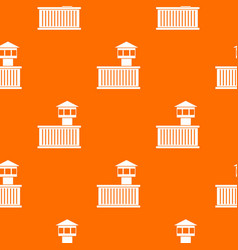 prison tower pattern seamless vector image vector image