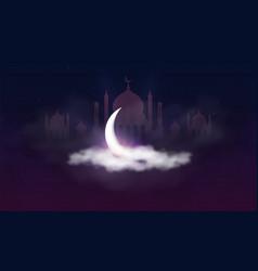ramadan kareem background muslim feast the vector image