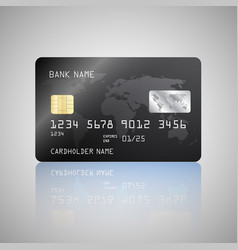 realistic detailed credit card with the vector image