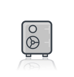safe icon isolated on white vector image