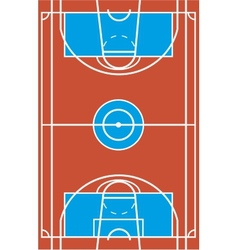 Sample multisport field in a simple outline vector image