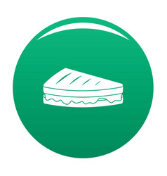Sandwich icon green vector
