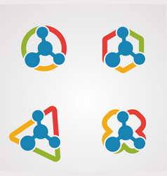 Set molecule logo concept icon element and vector