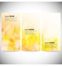 Set of vertical banners Light orange polygonal vector image