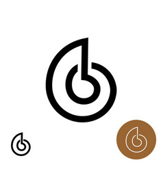 snail house logo shell line style elegant vector image