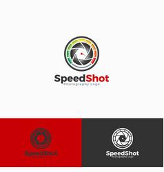 Speed shot logo template vector