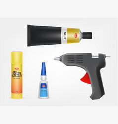super moment and stick glue glue gun vector image