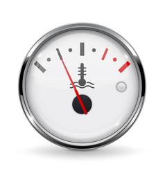 Temperature car gauge white device with chrome vector