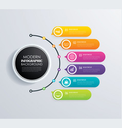 Timeline 6 infographic design and marketing vector