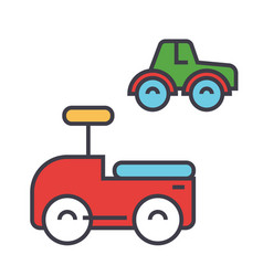 Toys cars concept line icon editable vector
