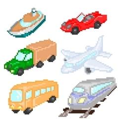 Transport pixelart vector image