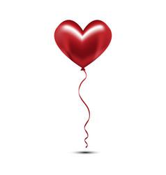 valentine red heart balloon vector image